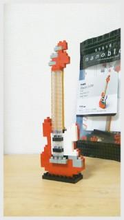 nanoblock「電気ギター」・撮影(た)