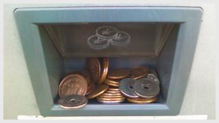 50円硬貨6枚、10円硬貨26枚の衝撃の釣り銭1・撮影(た)